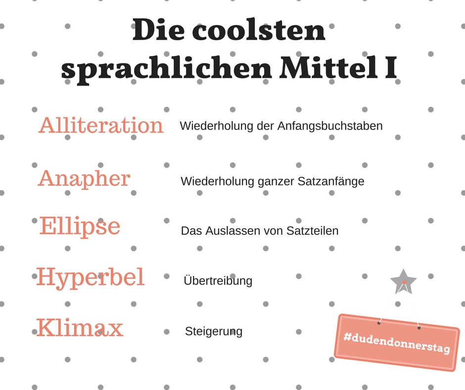 die coolsten sprachlichen Mittel