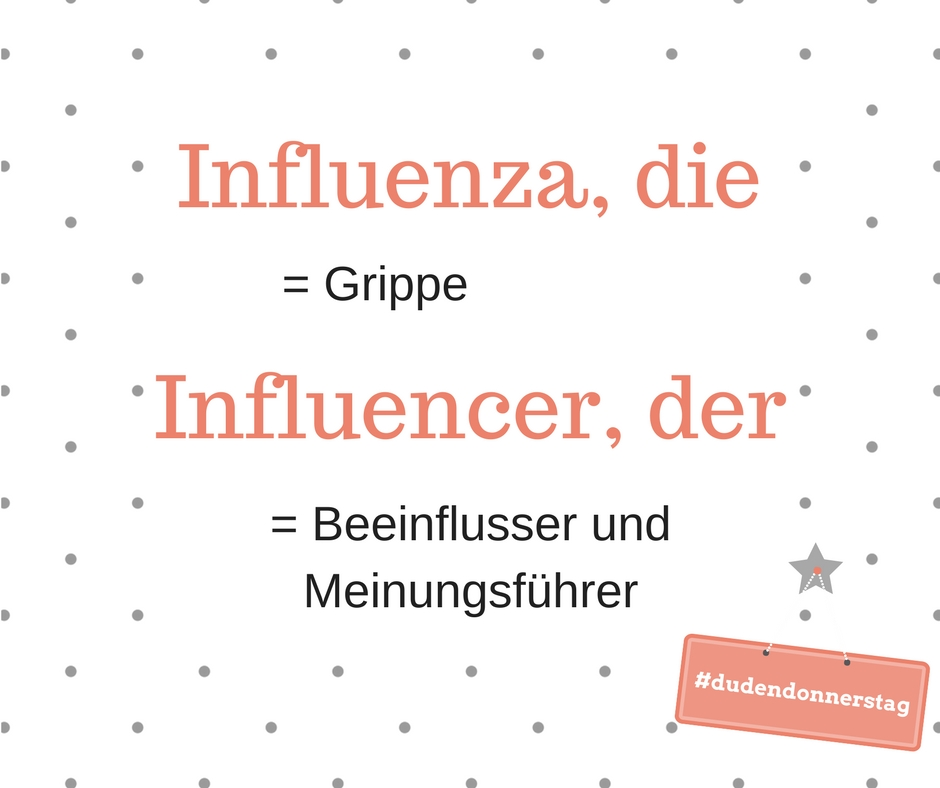 Influenza und Influencer